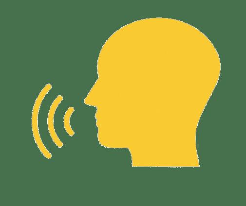 Icon: spoken language of the tour