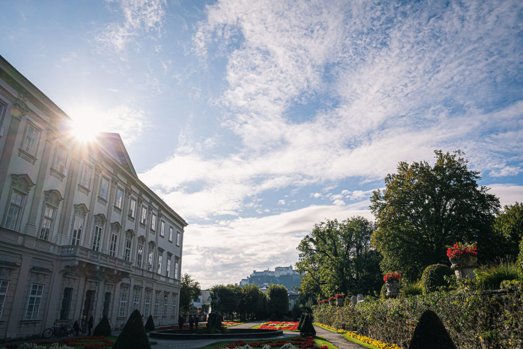 Mirabell Castle and Mirabell Garden in Salzburg