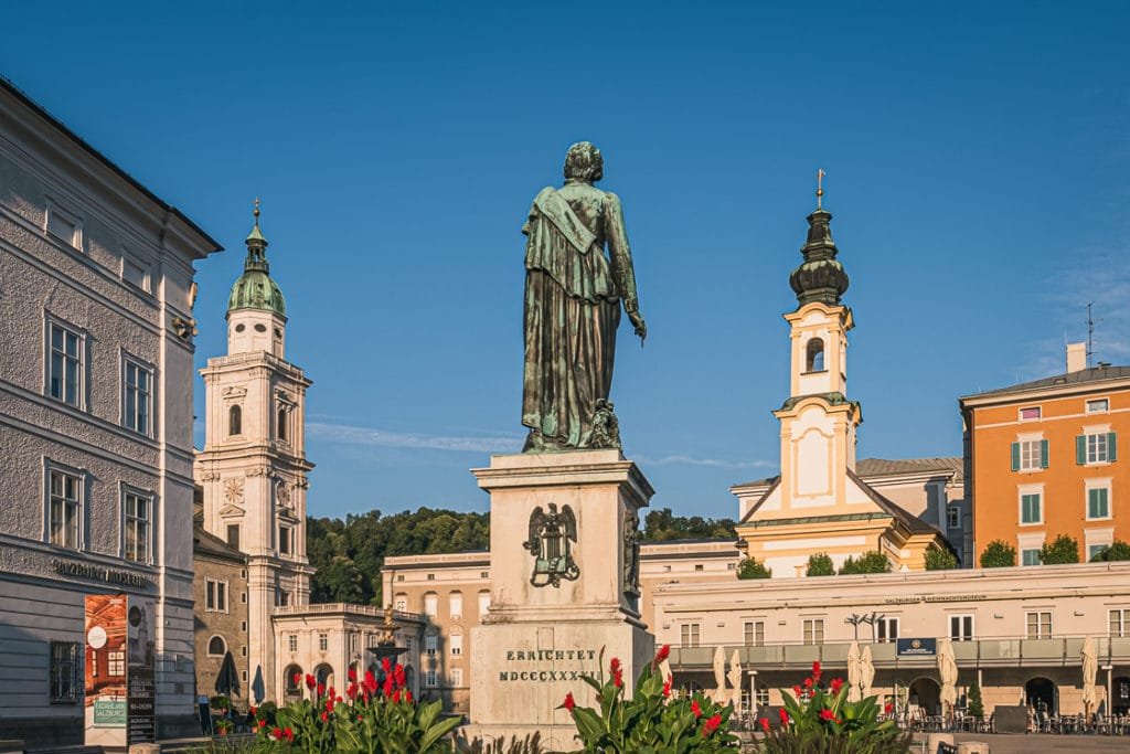 Mozart Square and Mozart Statue