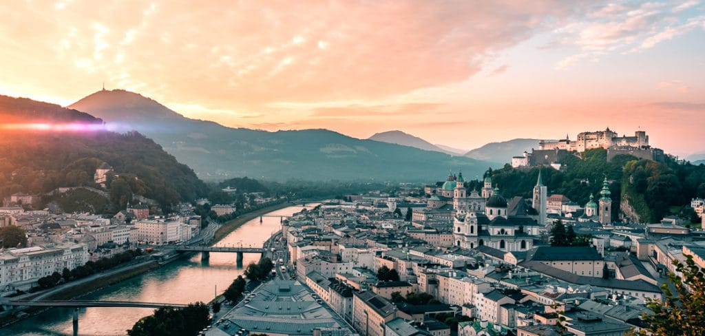 Salzburg Panorama Viewpoint Mönchsberg